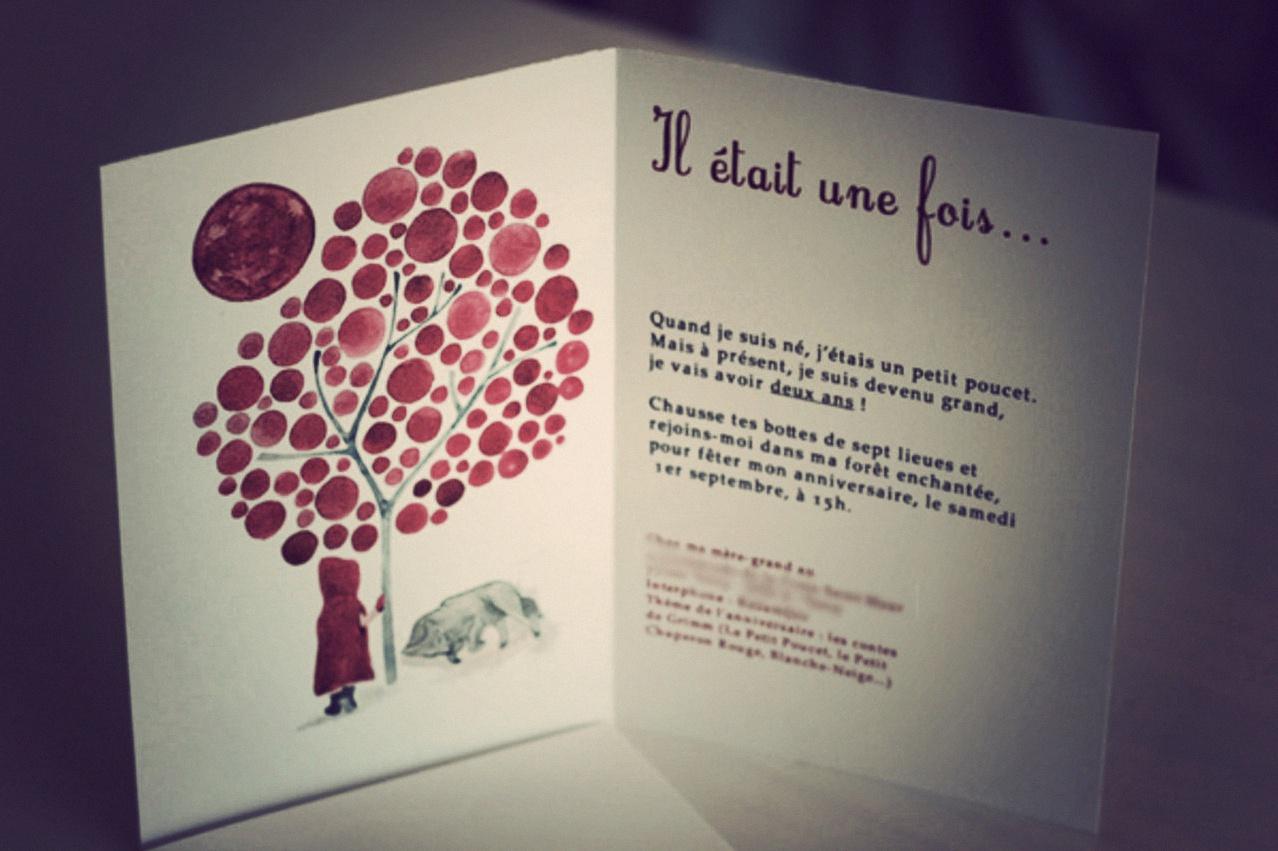"""Favori Mon anniversaire """"les contes de Grimm"""" : l'invitation PX14"""