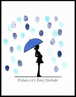 Un arbre à empreintes pour une baby shower