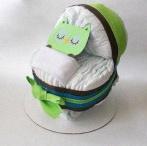 Joli cadeau de baby shower : des couches dédicacées