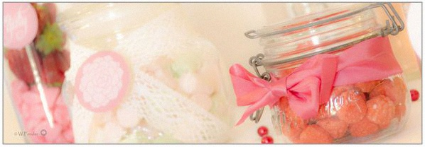 candy bar rose et blanc