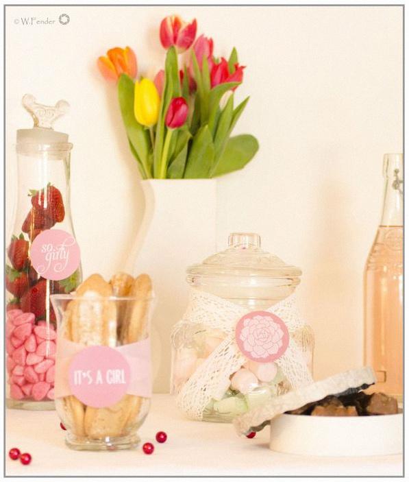 candy bar rose et blanc
