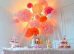 Une baby shower rose et mandarine