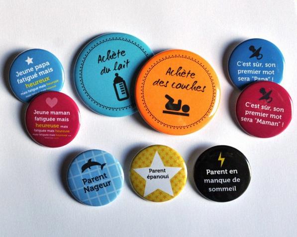 Célèbre Bulles de Neige : Faire-part de naissance magnet et jolis badges  LP04