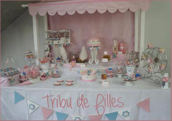 Connu Une sweet table rose et bleue pour un anniversaire sur le thème de  NN23
