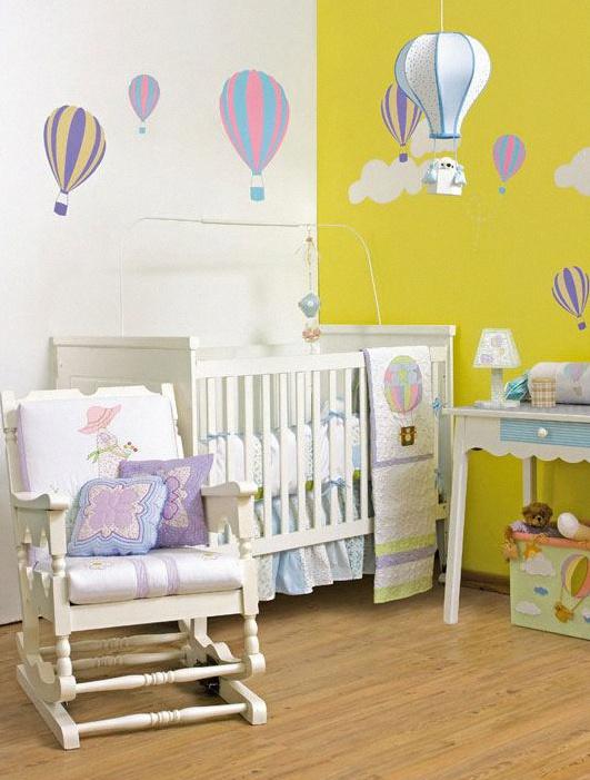 id es d co 6 fa ons d 39 incorporer des montgolfi res dans une chambre de b b ou d 39 enfant. Black Bedroom Furniture Sets. Home Design Ideas