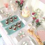 La jolie fête de naissance de Daniya : ambiance poudrée, rose pastel et vert d'eau