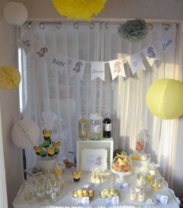 la baby shower d 39 elodie sur le th me du lapin panpan avec du belly painting. Black Bedroom Furniture Sets. Home Design Ideas