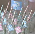 La Baby shower surprise de Delphine, en rose et bleu sur le thème Cigogne
