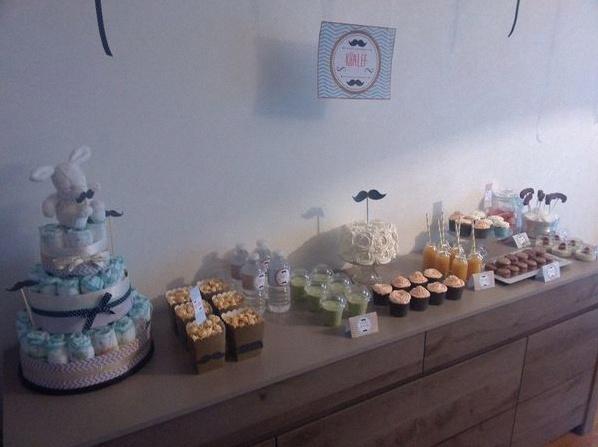 idee deco pour baby shower faire des cupcakes pour baby. Black Bedroom Furniture Sets. Home Design Ideas