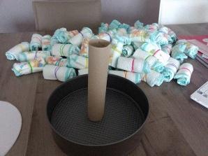 Comment faire un gateau de couche garcon