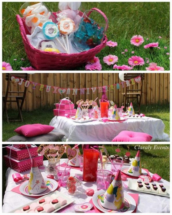 Favori Pique-nique et goûter dans l'herbe pour un 2e anniversaire girly UR11