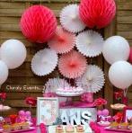 Le 3e anniversaire de Clara, en rose et gris