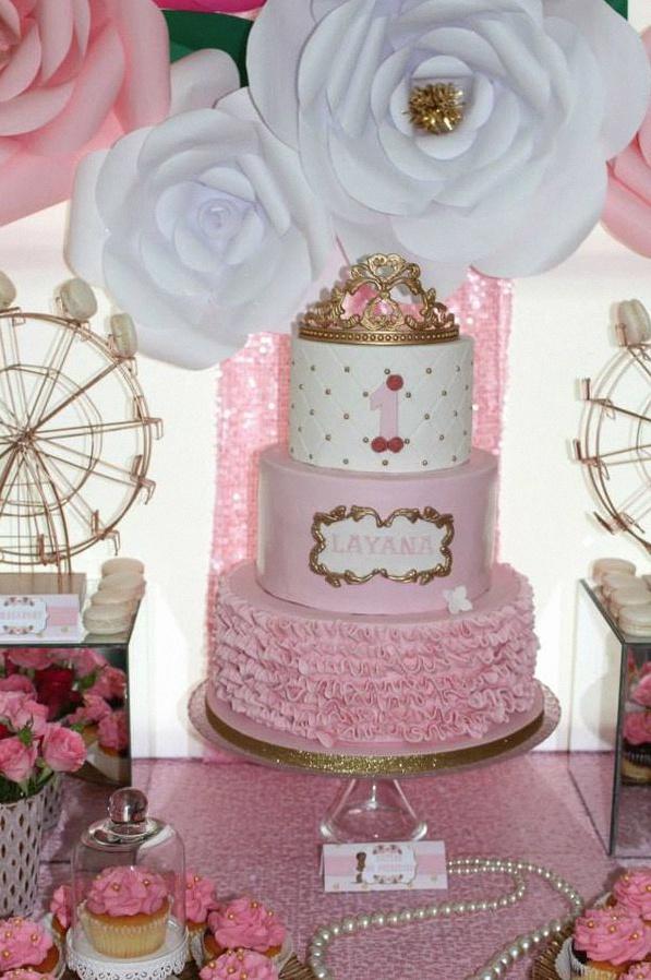 premier anniversaire rose princesse
