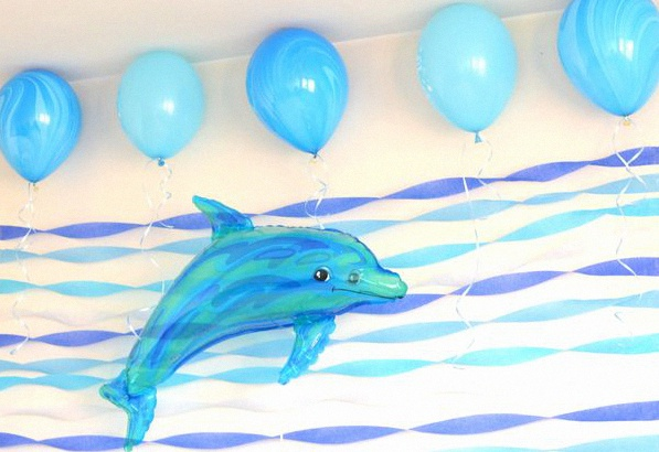 baby shower dauphin bleu