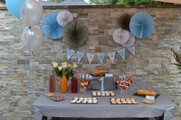 anniversaire décoration nuages