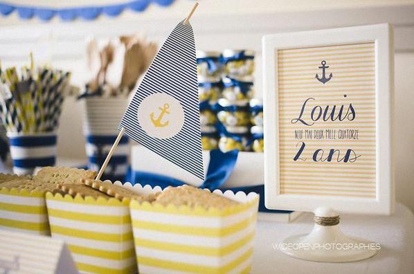 anniversaire marin petit bateau décoration marin
