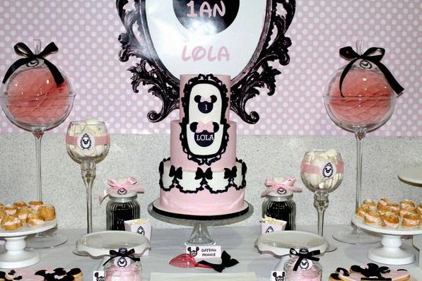 Le 1er anniversaire de lola sur le th me de minnie - Decoration minnie pour anniversaire ...