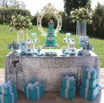 Une Baby shower baby & co, tiffany blue, chic et élégante