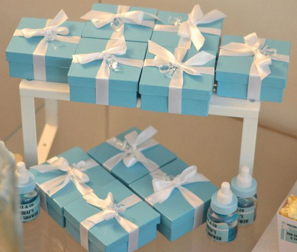 décoration baby shower tiffany & co