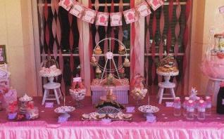 La Baby shower de Mélodie sur le thème de la fête foraine