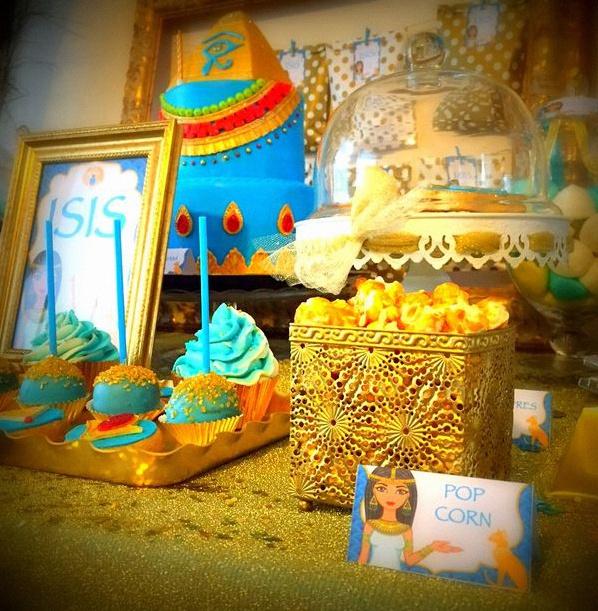 sweet table égypte décoration égypte