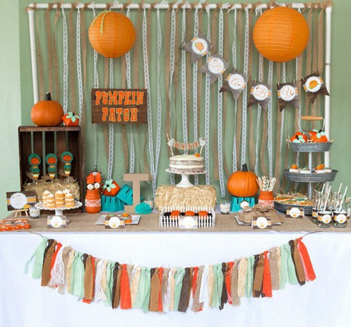 sweet table halloween Baby Shower