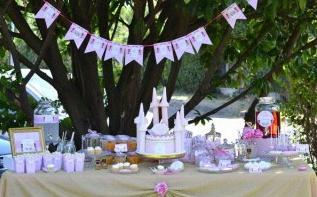 Le premier anniversaire de Maëlys sur le thème Princesse