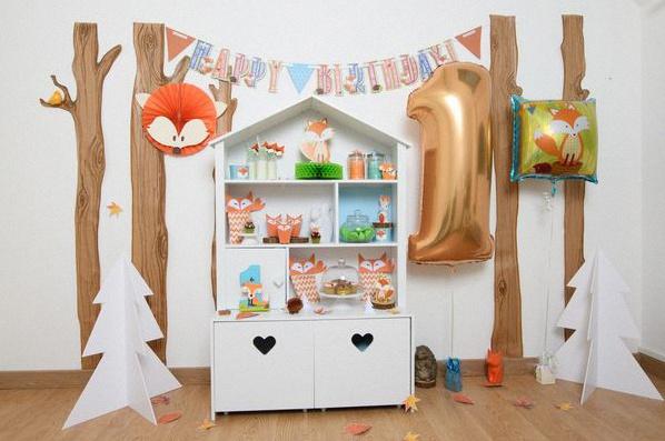 premier anniversaire renard animaux de la forêt
