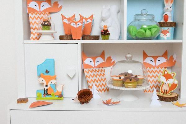 décoration anniversaire renard animaux de la forêt
