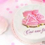 Faire un joli gâteau de Baby shower/baptême pas cher avec un disque en sucre