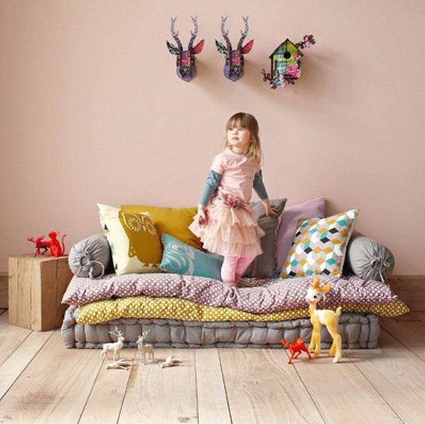 coin canapé cosy chambre enfant