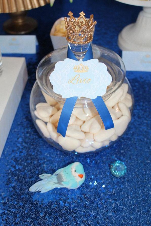candy bar anniversaire petit prince bleu royal doré