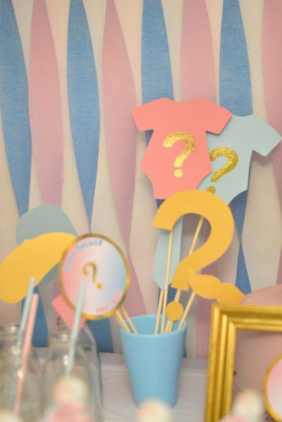 animation gender reveal party