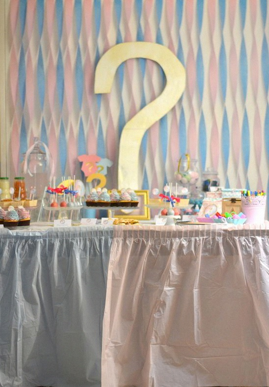 gender reveal party bleu rose