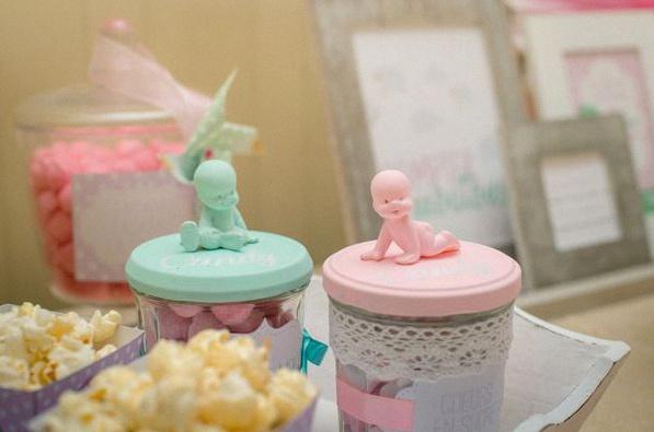 baby shower la famille s'agrandit rose vert