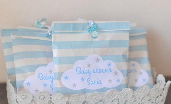 baby shower nuages étoiles