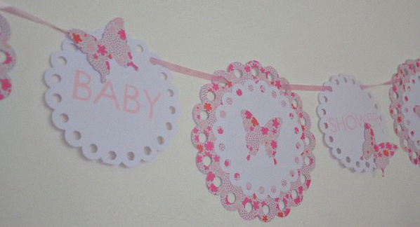 décoration baby shower papillons