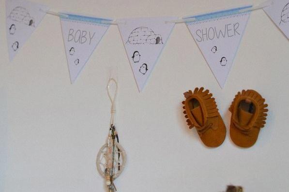 décoration de baby shower banderole
