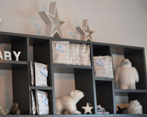 décoration de baby shower sweet table esquimaux