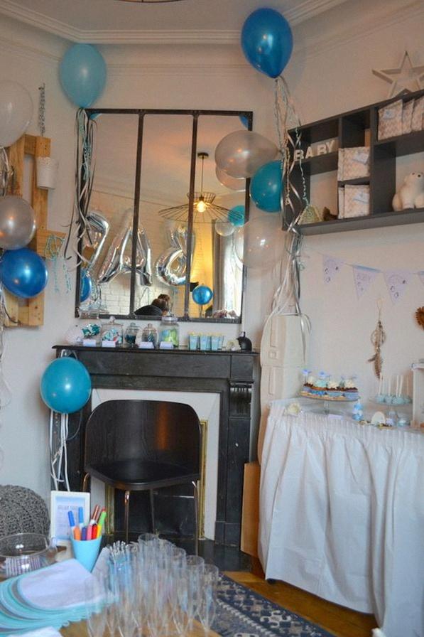 décoration de baby shower esquimaux