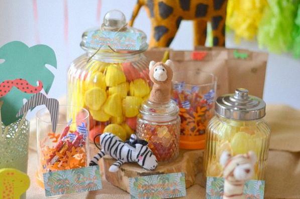 candy bar décoration anniversaire animaux de la jungle sweet table animaux de la jungle