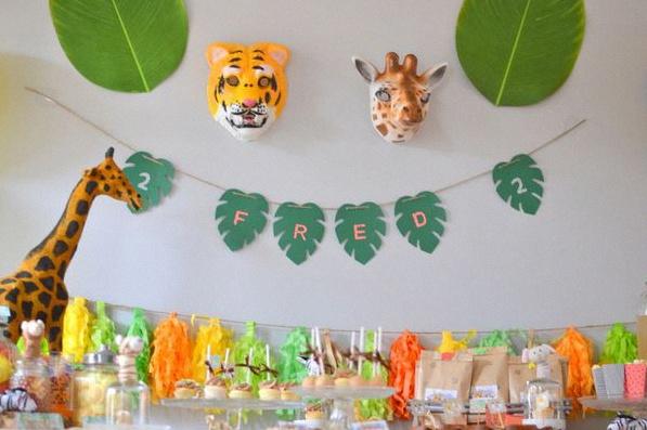 décoration anniversaire animaux de la jungle