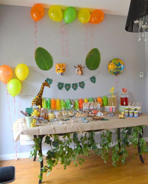 anniversaire animaux de la jungle