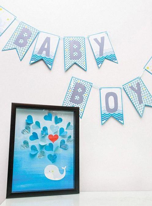 baby shower baleine