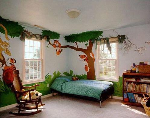 chambre thème nature
