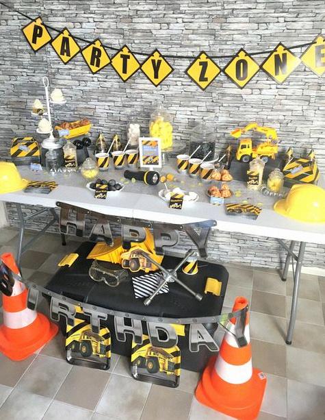 Deco Anniversaire Chantier Construction
