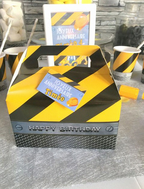 décoration anniversaire chantier de construction