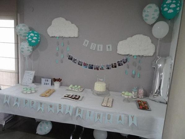 premier anniversaire nuages décoration nuages