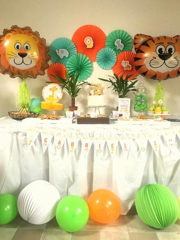 Image Animaux De La Jungle un premier anniversaire sur le thème animaux de la jungle