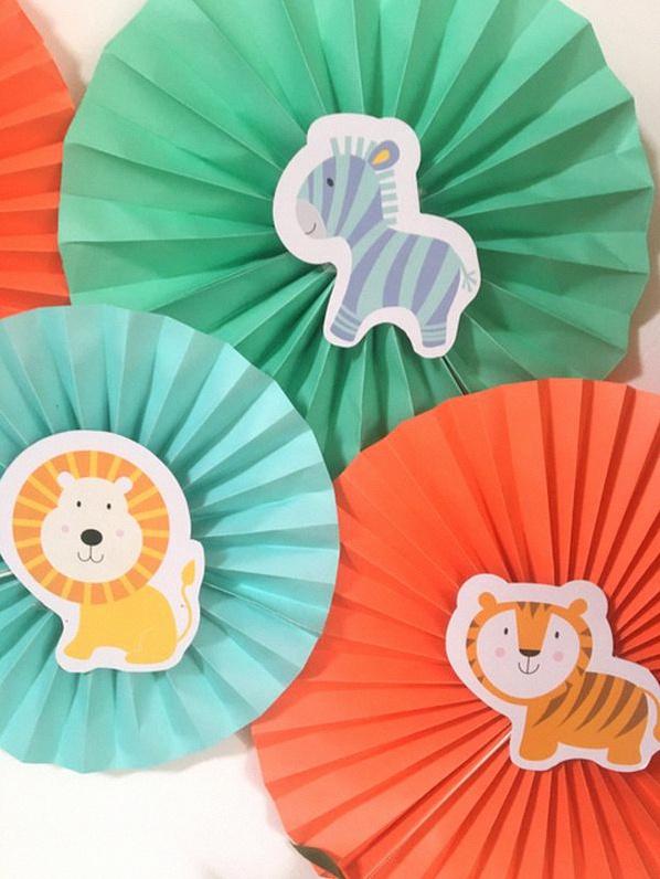 anniversaire thème jungle animaux sweet table